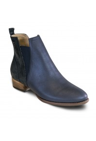 Revere Havana Boot Navy Lizard