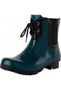 Roma CHELSEA LACE UP TEAL WOMENS RAIN BOOTS