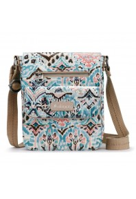 Sakroots Artist Circle Turquoise Small Flap Messenger