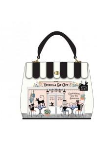 Vendula Cat Cafe B/W Grace Bag *AU Exclusive*