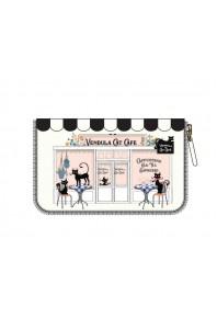 Vendula Cat Cafe B/W Medium ZipAround Wallet *AU Exclusive*