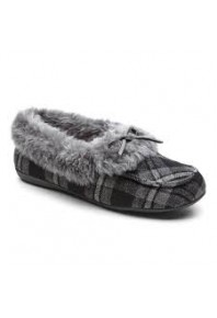 Vionic Juniper Slipper Grey Plaid sz 7