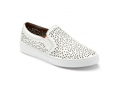 Vionic Midi Perf Slip on White